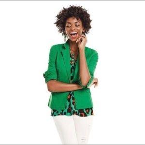CAbi Women Verde Blazer One Button Cotton Blend